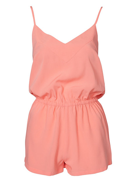 Farbe Korall 24 7 playsuit nly trend korall jumpsuits kleidung damen nelly de mode