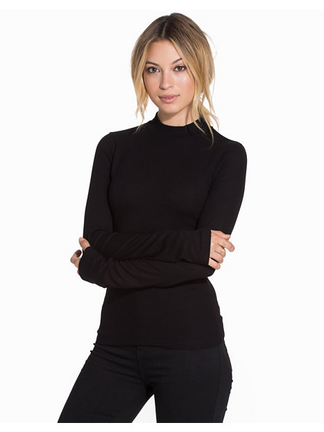 Rib Turtleneck LS Top