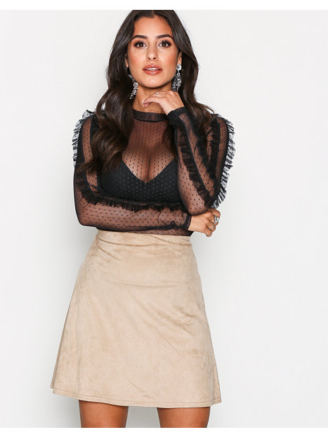 A Lined Suede Like Skirt