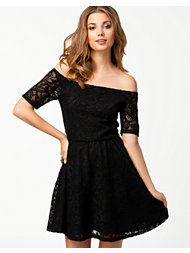 Pearl Off Shoulder Lace Dress