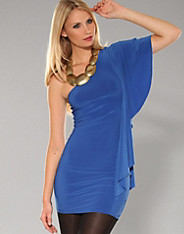 Honor Gold - One Side Frill Dress