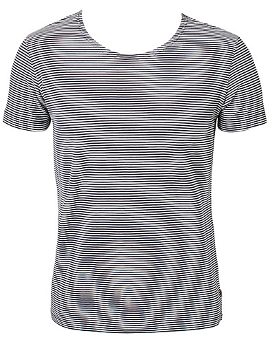 T-SHIRTS - KNOWLEDGE COTTON / LOOSE NECK STRIPE TEE - NELLY.COM