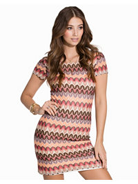 Festkjoler, ZicZac Short Sleeve Dress, Dry Lake - NELLY.COM