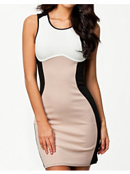 Lasula Contrast Opposite Bodycon Dress