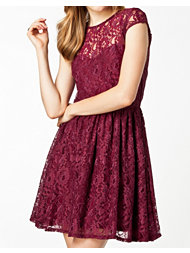 Dark Pink Fancy Lace Dress