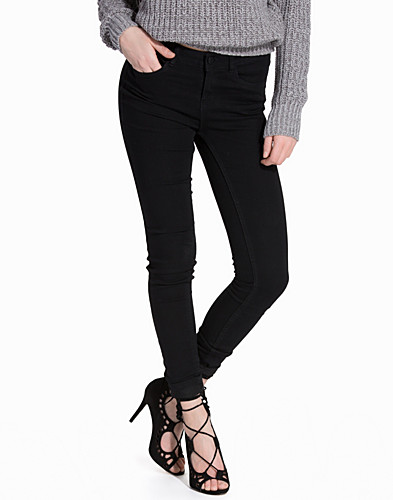 NMLUCY NW ANKLE JEANS BLACK (2091776681)