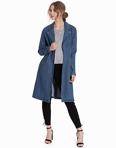 VMMONA LS DENIM TRENCHCOAT (2128389597)