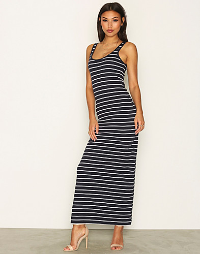 onlABBIE STRIPE SL LONG ONECK DRESS (2248941629)