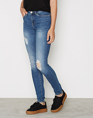 NMLUCY NW DESTROY JEANS MED BLUE NO (2305405265)