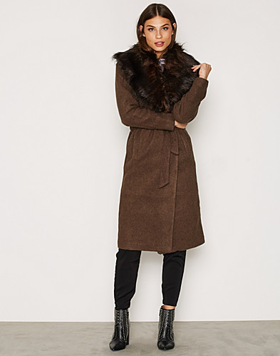 onlNEW SCOOP DRAPY FUR COAT OTW (2299154281)