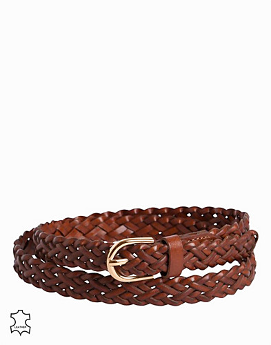 PCAVERY LEATHER BRAIDED SLIM BELT N (2294415209)