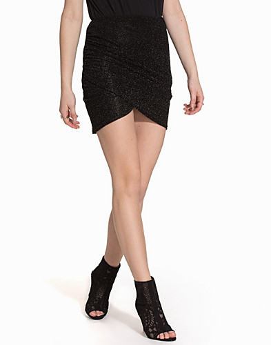 Draped Mini Lurex Skirt (2069807753)