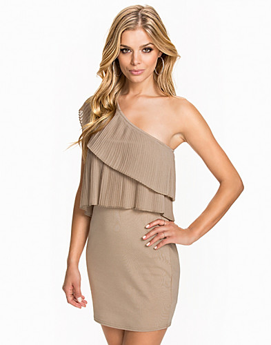 Pleated Shoulder Dress (2044021977)