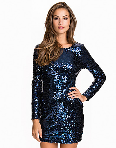 Scoop Back Sequin Dress (2059535063)