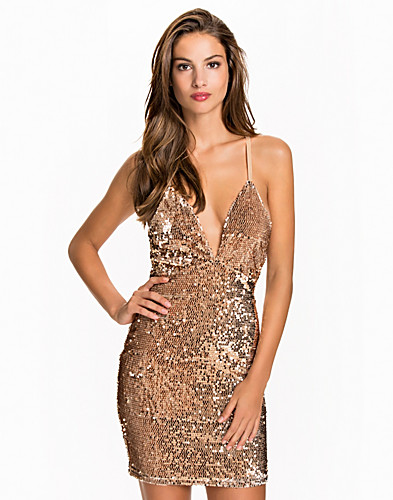 Deep V Sequin Dress (2067715421)