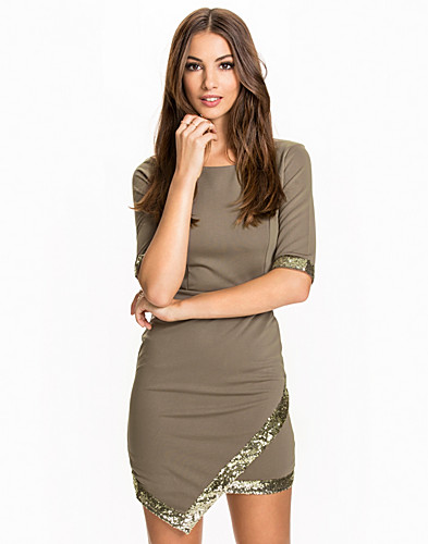 Contrast Edge Dress (2062618259)
