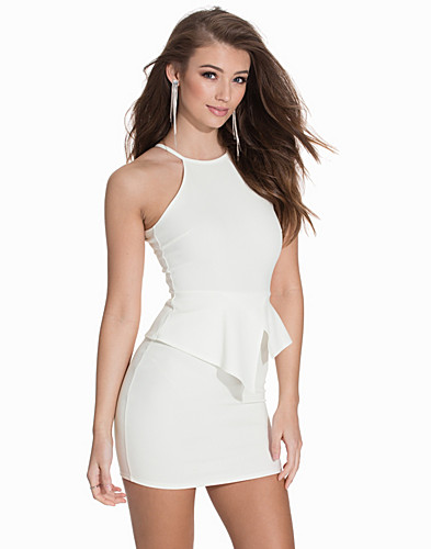 Asymmetric Peplum Dress (2116587853)