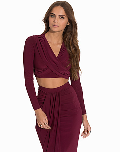 Cross Over Ruched Top (2068360379)