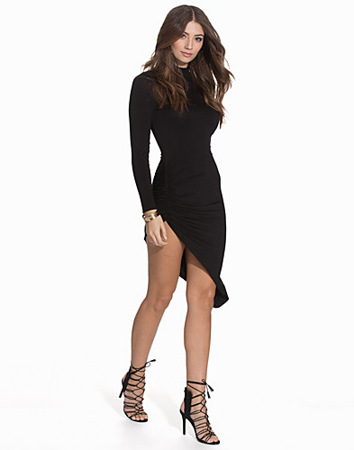 High Neck Ruched Dress (2109060369)