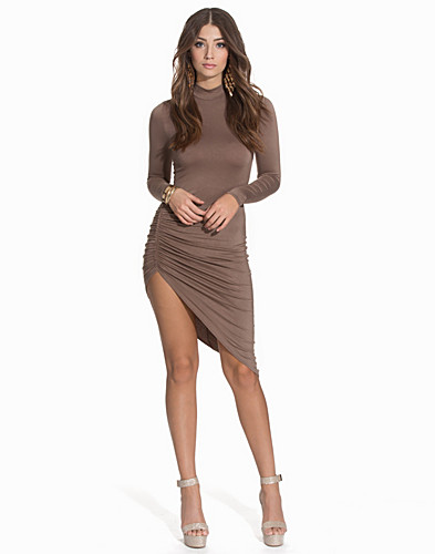 High Neck Ruched Dress (2109060371)