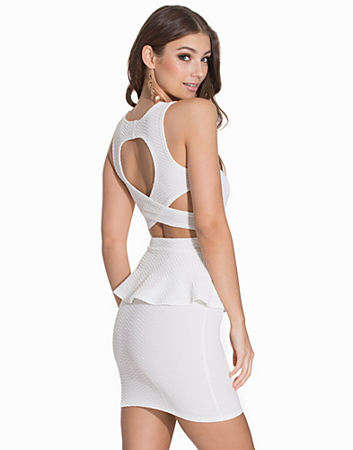 Cross Back Peplum Dress (2137415145)
