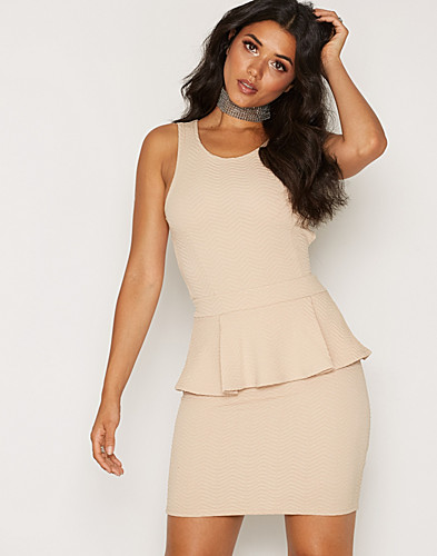 Cross Back Peplum Dress (2139671701)