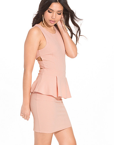 Cross Back Peplum Dress (2190653779)