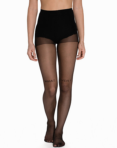 What Ever Small Text Sheer Tights (2146782909)