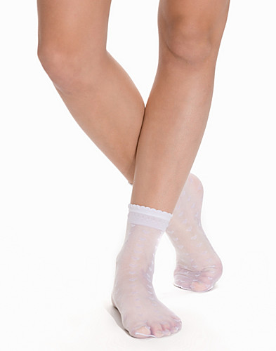 All Over Sheer Heart Ankle Socks