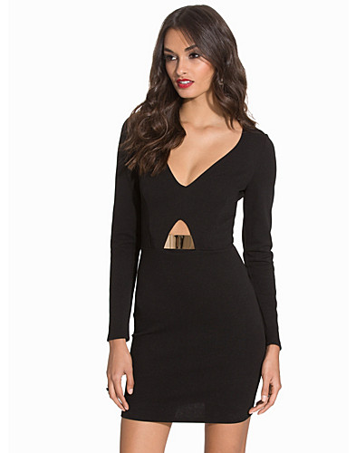 Gold Trim Cut Out Bodycon (2088539937)