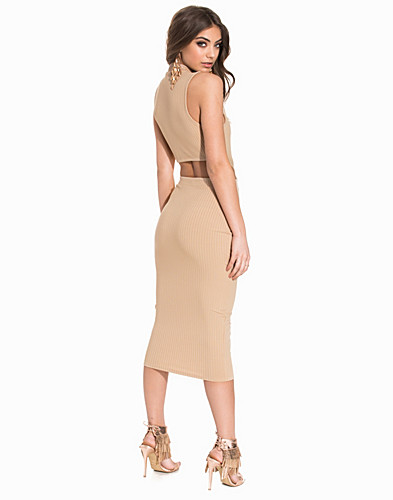 Rib Midi Cut Out Dress (2174488039)