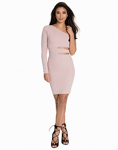 Cut Out Side One Shoulder Dress (2139671771)