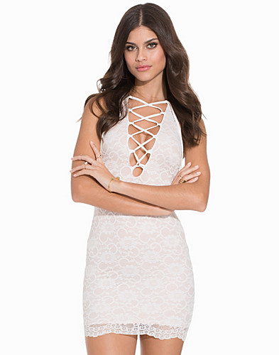 Lace Tie Up Bodycon (2161993795)