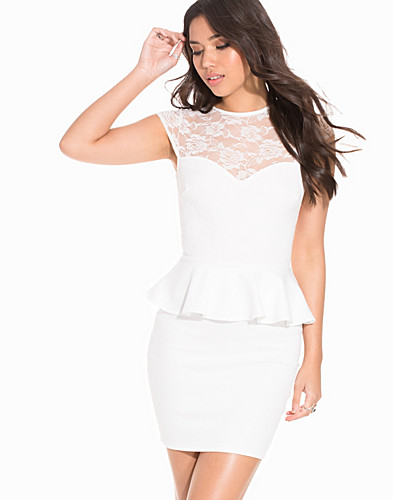 Lace Peplum Dress (2190653793)