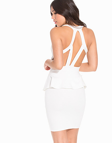 Strap Back Peplum Dress (2194270589)