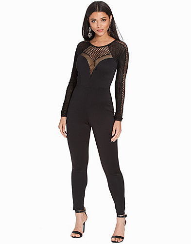 Mesh Mix Jumpsuit (2274536953)