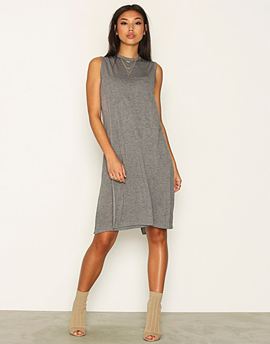 T By Alexander Wang - Crewneck Overlap Dress