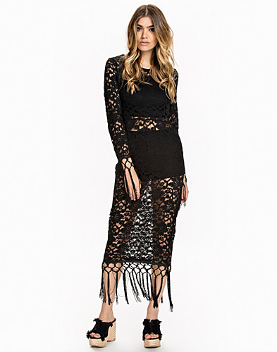Fringe Lace Dress