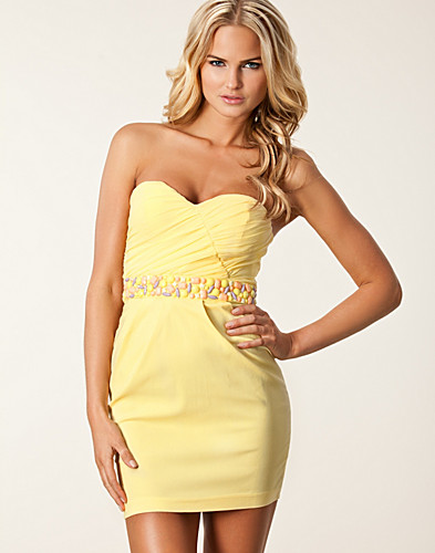 Bandeau Waist Trim Dress