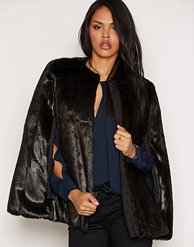 Reversible Faux Fur Cape (2298385349)
