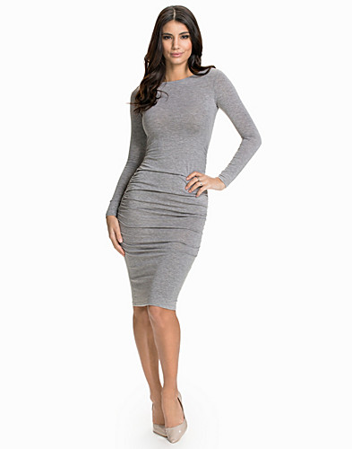 LS Rouched Gathered Dress (1719727047)