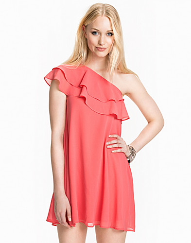 One Shoulder Frill Detail Dress (1973023887)