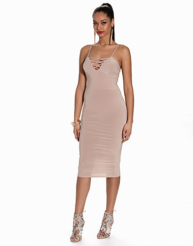 Cami Criss Cross Front Essential Midi Dress (2152793855)