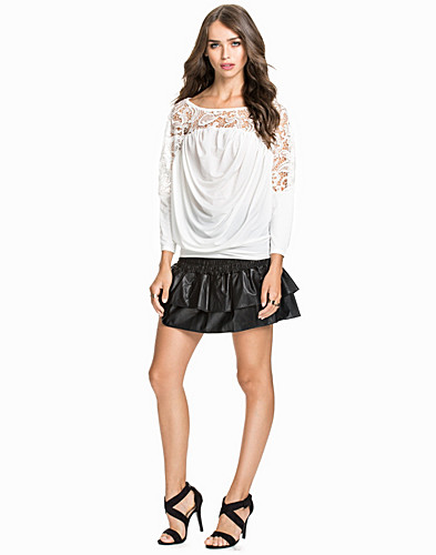 Faux Leather Frill Skirt (1752803169)