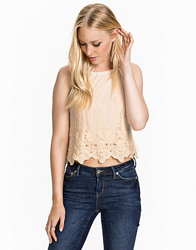 Embroidered Mesh Cami Top (2012649651)