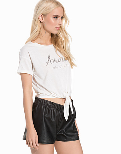 Amour Tie Front T Shirt (2199393427)
