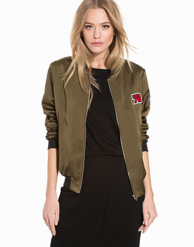 Sateen 79 Badge Bomber Jacket (2195002335)