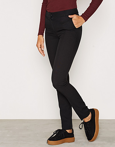 Black Stretch Slim Leg Trousers (2267167167)