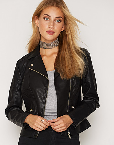 Black Leather Look Biker (2297490735)
