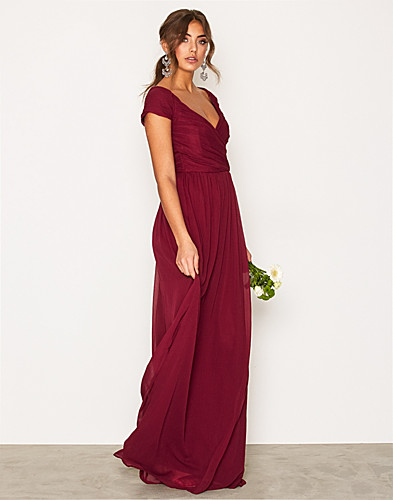 Cup Sleeve Maxi Dress (2008706557)